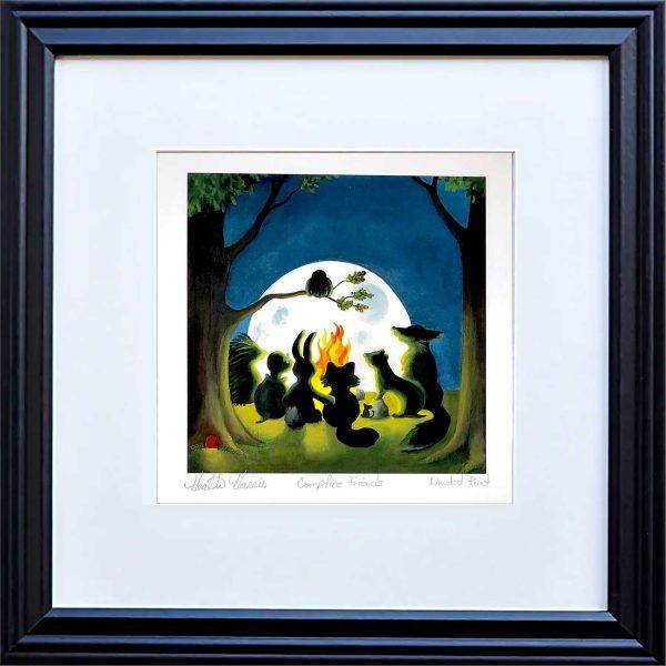 Campfire print frame