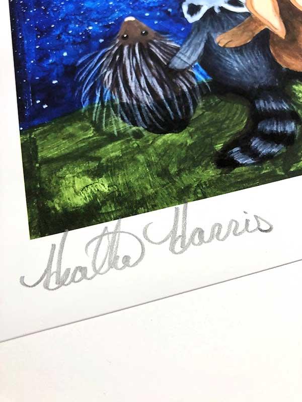 Clover print signature