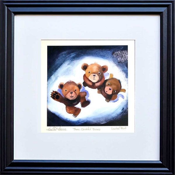 Grateful bears print framed