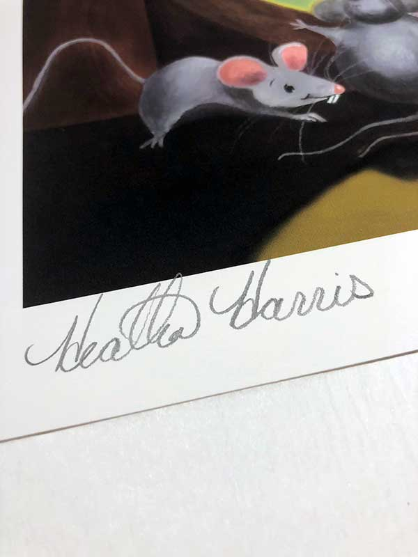Paris mice print signature