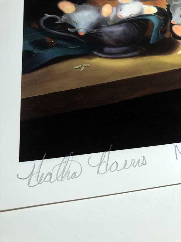 Sleeping mice print signature